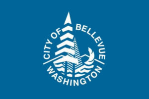 the logo for the city of bellevue