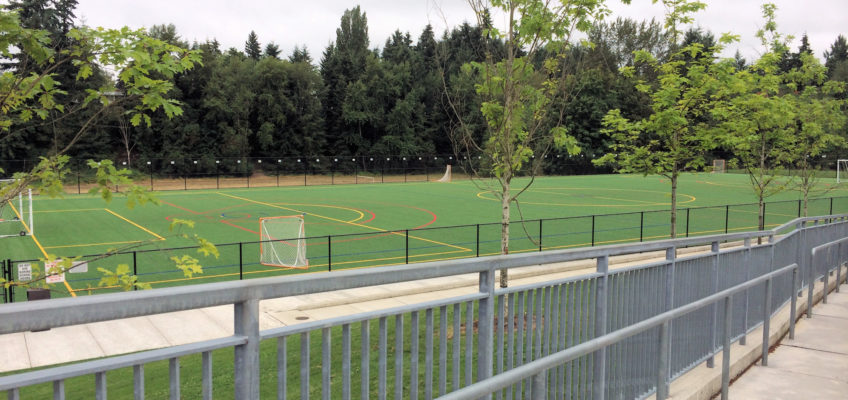 Sports field at Tyee Middle School