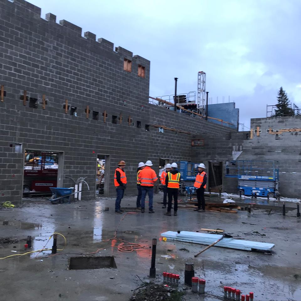 View of the Clyde Hill construction site.