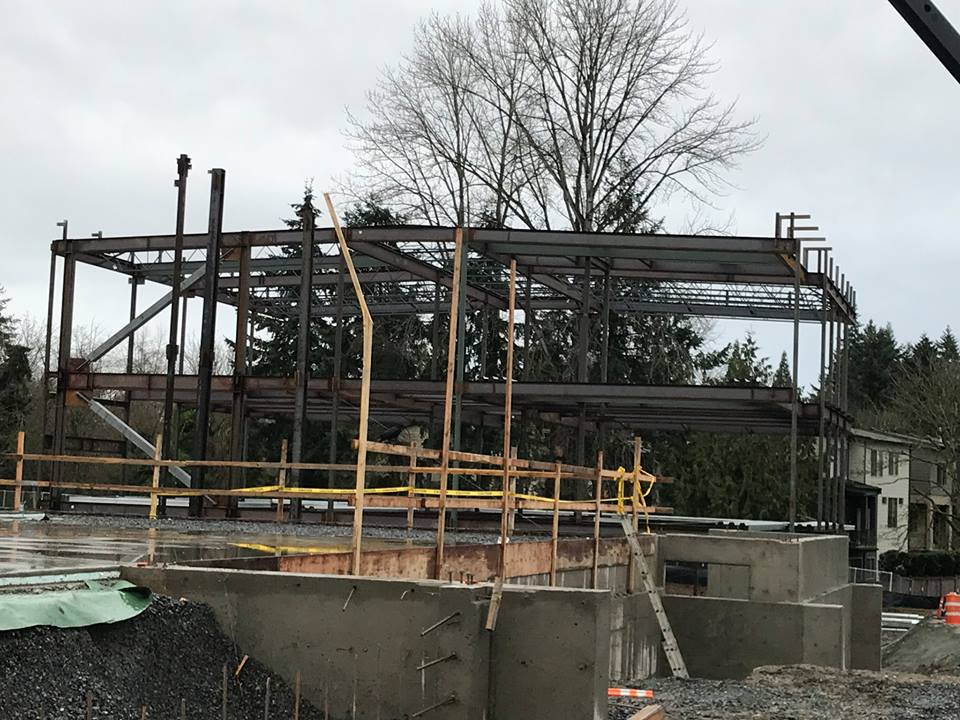 View of the Highland Middle School construction site.