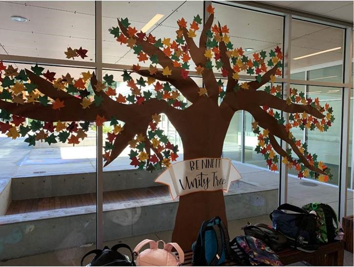 the unity day tree at Bennett Elementary