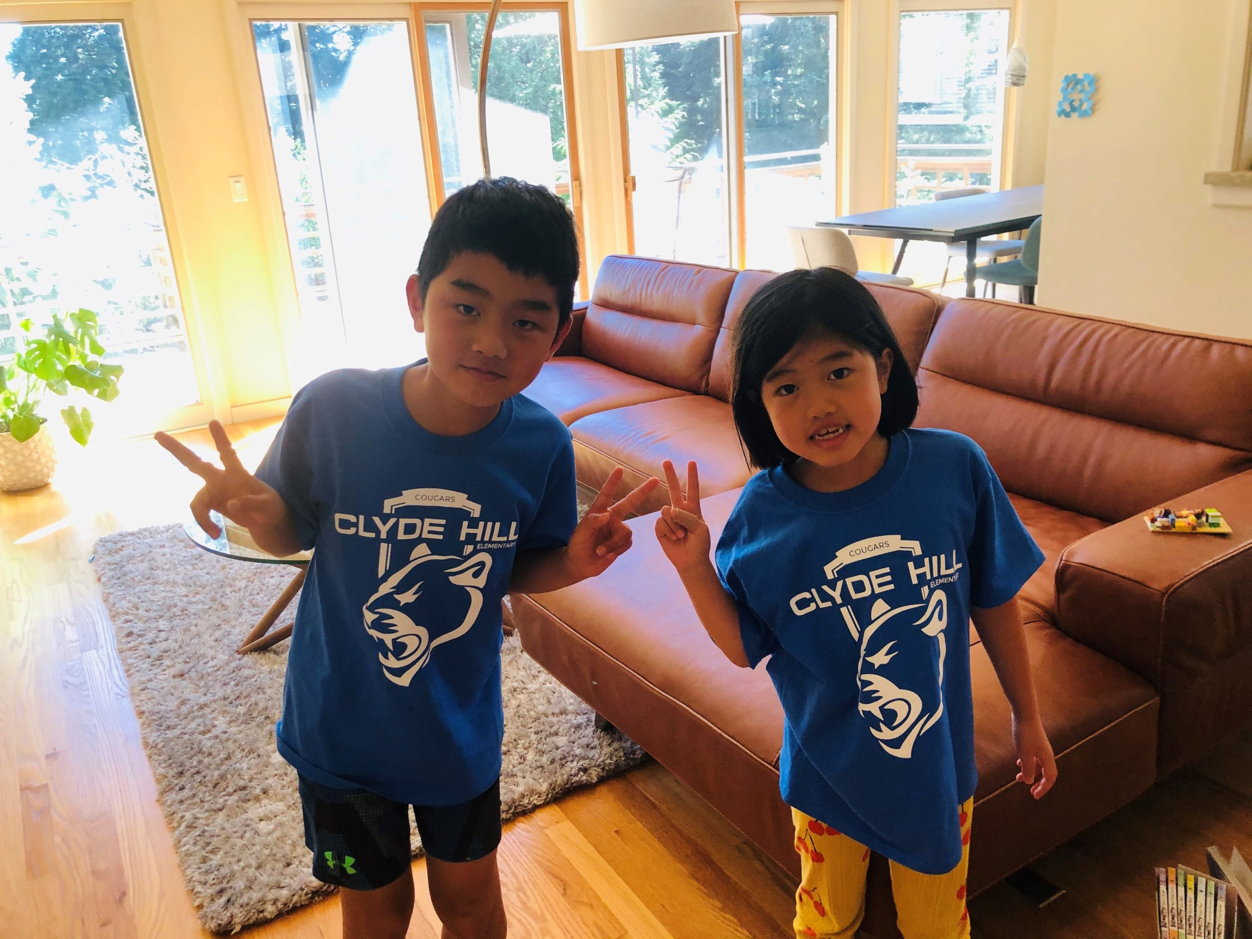 student wearing clyde hill elementary shirts
